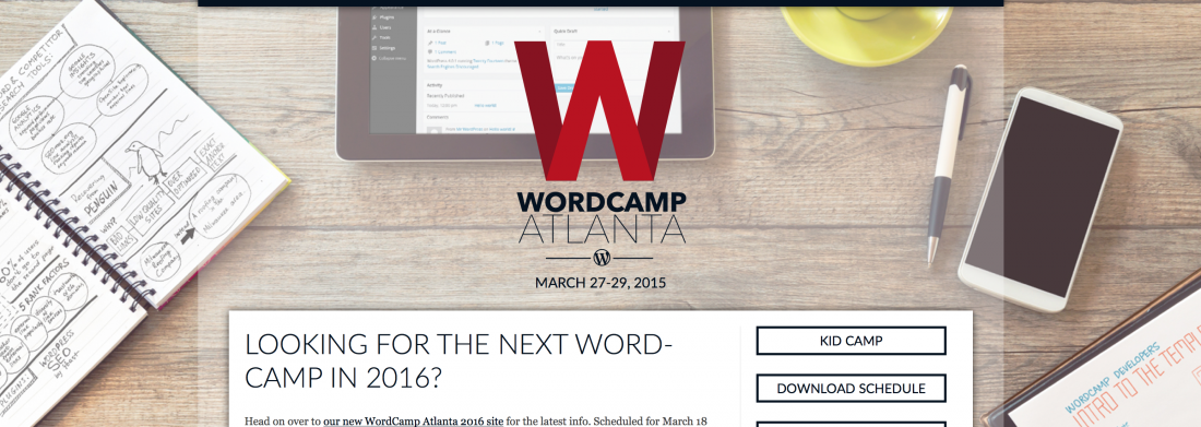 WordCamp Atlanta Event Website